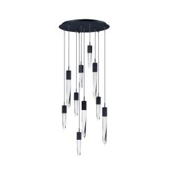 lighting quartz 10 light pendant black