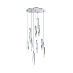 lighting quartz 10 light pendant chrome