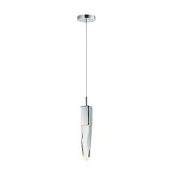lighting quartz 17 inch pendant chrome