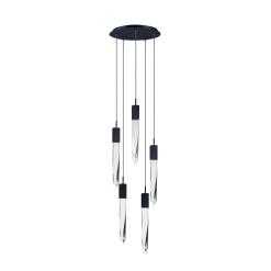 lighting quartz 5 light pendant black