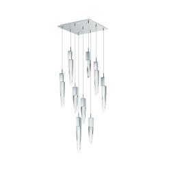 lighting quartz 9 light pendant chrome
