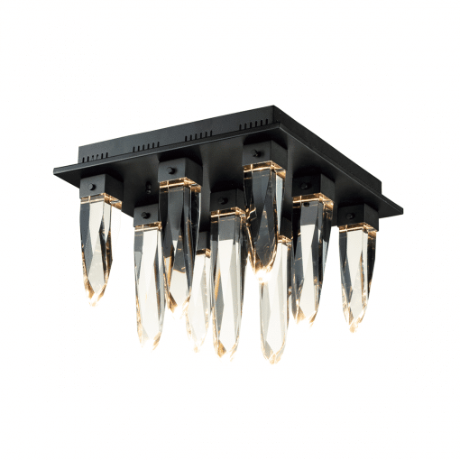 lighting quartz flush mount black