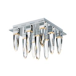 lighting quartz flush mount chrome