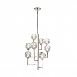 ligting parisian 8 light chandelier nickel