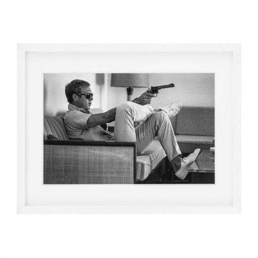 Steve McQueen Takes Aim Print