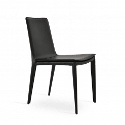 Tiffany Dining Chair Black bonded Leather