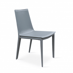 Tiffany Dining Chair Grey bonded Leather