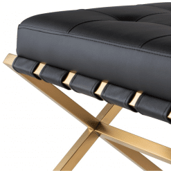 AUGUSTE BENCH gold and black1