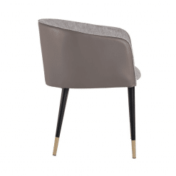 Asher Chair Flint Grey SIDE
