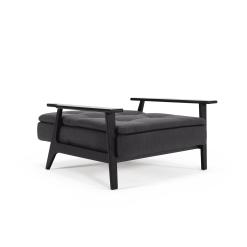 Dublexo Frej Black chair 509 Elegance Anthracite laying