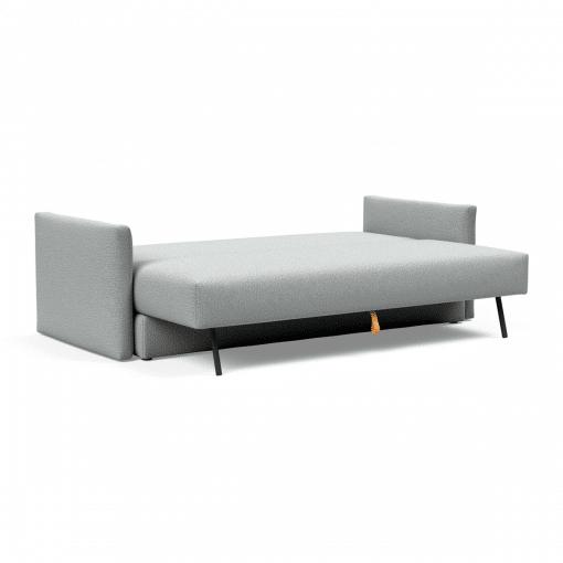Tripi Sofa Bed in Melange Light Grey Open