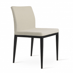Aria MW Dining Chair Boucle Off White and Walnut
