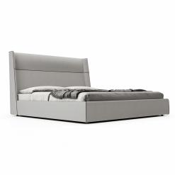 Bedroom bond kingcal GrisFabric  Cinza Ecopelle front 1