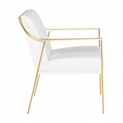 dining room valentine chair white gold side 001