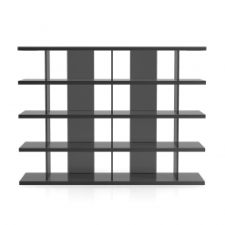 living room beekman bookcase glossy dark gull grey