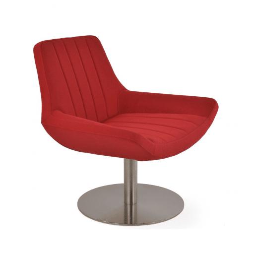living room bellagio round red camira era fabric