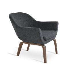 living room madison plywood walnut dark grey camira wool