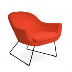 living room madison wire sled black orange camira wool