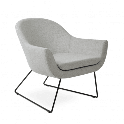living room madison wire sled black silver camira wool