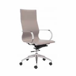 office chair Glider High Back Office Chair Taupe