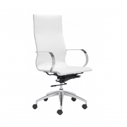 office chair Glider High Back Office Chair White
