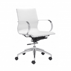 office chair Glider Low Back Office Chair White