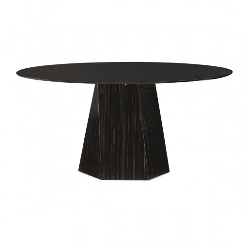 vector round dining table front view