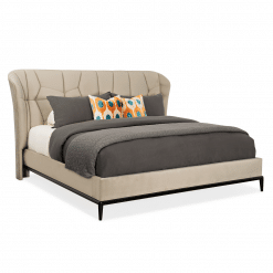 vector upholstered bed