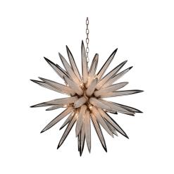 Handblown Glass Sphere Sixteen Light Pendant 2