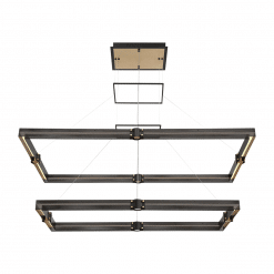 admiral 2 tier rectangular chandelier