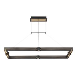 admiral 43 inch rectangular chandelier