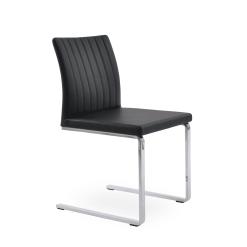 dining chair zeyno flat black leatherette