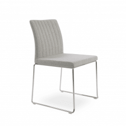 dining chair zeyno stackable silver camira wool chrome