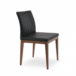 dining chair zeyno american walnut black leatherette
