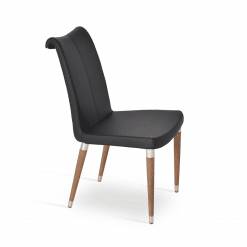 dining room tulip ana chair black ppm