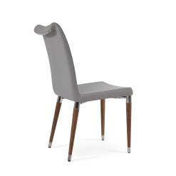 dining room tulip ana chair light grey camira fabric