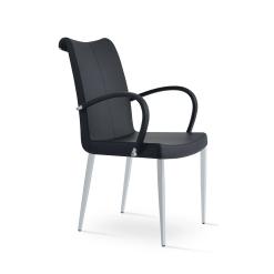 dining room tulip metal arm chair black ppm