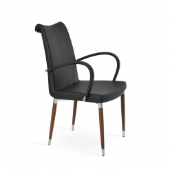 dining room tulip ana arm chair blackppm