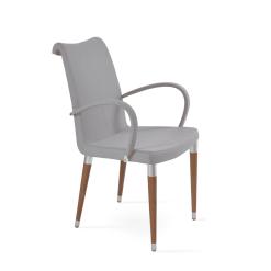 dining room tulip ana arm chair light grey camira era fabric
