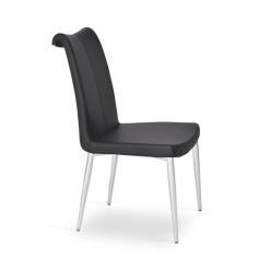 dining room tulip metal chair black ppm