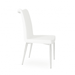 dining room tulip metal chair white ppm