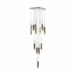 lighting Aspen 13 light pendant HF1905 13 AP CH