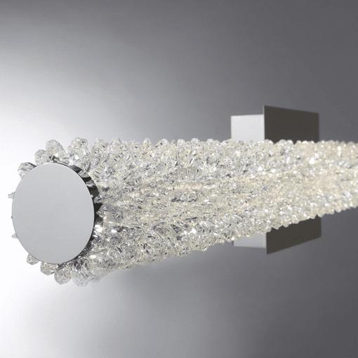 lighting sassi 18 wall mount crystals