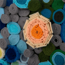 living room art Tony Feys Rainbow Tapestry texture