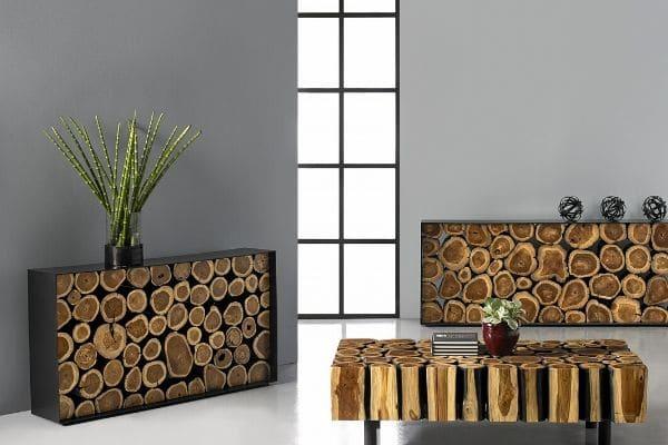 rectangular boscage coffee table