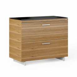 Sequel 6116 Lateral File Walnut Nickel