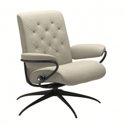 Stressless Metro Lowback Chair Paloma Light Grey and Black