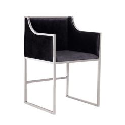 annabelle chair black chrome