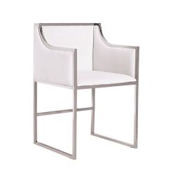 annabelle chair white chrome