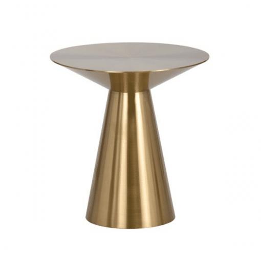 living room carmel side table gold